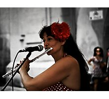 Lady in Red  1 Photographic Print