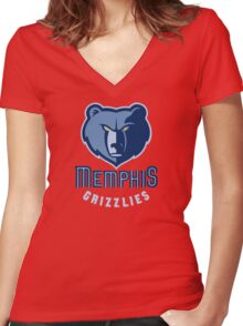 Grizzlies sport Women's Fitted V-Neck T-Shirt