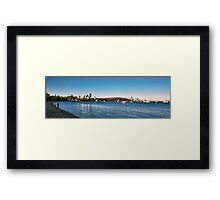 Sunset at Crawley Framed Print