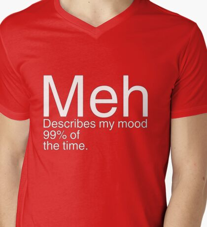 Meh Mens V-Neck T-Shirt