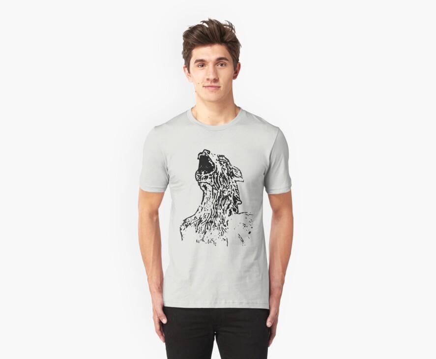 Cool Gargoyle Grunge T-Shirt by Denis Marsili