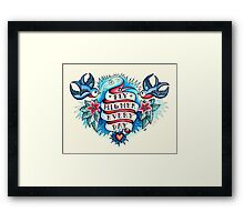 Tattoo - Fly Higher Every Day Framed Print