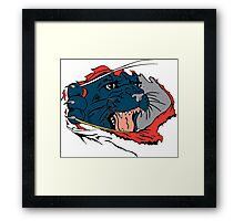 Black Panther Ripping Clothes Framed Print