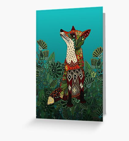 floral fox Greeting Card