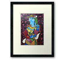 Mujer con sombrero Framed Print