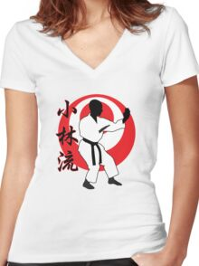 Shorin Ryu Women's Fitted V-Neck T-Shirt