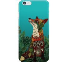 floral fox iPhone Case/Skin