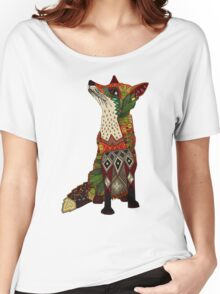 floral fox Women's Relaxed Fit T-Shirt