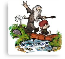 Lord of the Rings meets Calvin and Hobbes Canvas Print