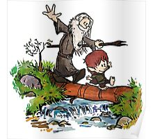 Lord of the Rings meets Calvin and Hobbes Poster