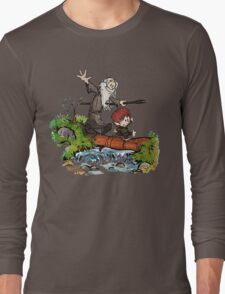 Lord of the Rings meets Calvin and Hobbes Long Sleeve T-Shirt