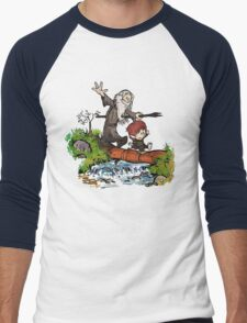 Lord of the Rings meets Calvin and Hobbes Men's Baseball ¾ T-Shirt