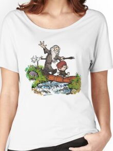 Lord of the Rings meets Calvin and Hobbes Women's Relaxed Fit T-Shirt