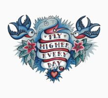T-Shirt Tattoo - Fly Higher Every Day Kids Clothes