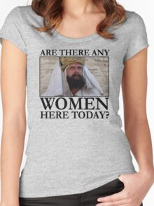Are there any women here today? Women's Fitted Scoop T-Shirt