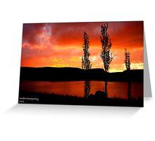 Kwantani, sunset Greeting Card