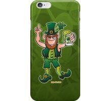 Saint Patrick's Day Leprechaun Drinking Beer iPhone Case/Skin