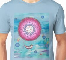 Hot Air Balloon, Sleeping Girl and Fairies Unisex T-Shirt