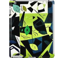 Monochrome Modern Art: Green iPad Case/Skin