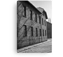 Auschwitz Prison blocks Canvas Print