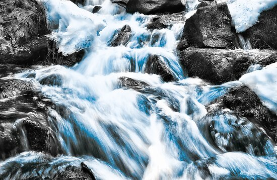 Spring Rapids in Blue by Ari Salmela