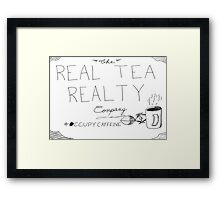The real tea realty company - rejected ad campaign cartoon Framed Print