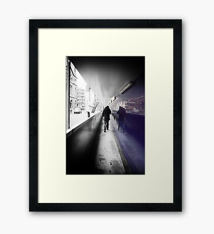 Where Are You Going.....? Framed Print