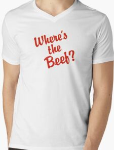 Where's The Beef? Mens V-Neck T-Shirt