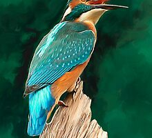 Kingfisher by ellenspaintings