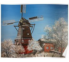 Windmill In Winter Poster