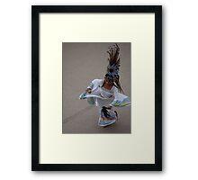 Aztec Dancer I - Bailarina Azteca Framed Print