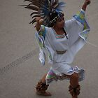 Aztec Dancer III - Bailarina Azteca by Bernhard Matejka