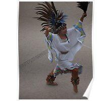 Aztec Dancer III - Bailarina Azteca Poster