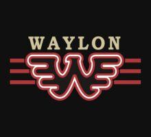 Waylon Jennings - Black and Orange Logo by Epicloud