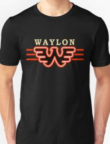 Waylon Jennings - Black and Orange Logo T-Shirt