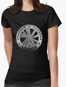 Indian Chief Horn Face Womens Fitted T-Shirt