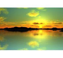 Sunset Island Photographic Print