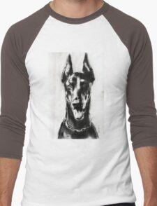 dog drawing.. pencil Men's Baseball ¾ T-Shirt