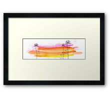 water brushes Framed Print