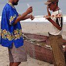 Fishermen At Work - Pescadores Trabajando by Bernhard Matejka