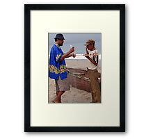 Fishermen At Work - Pescadores Trabajando Framed Print