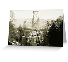 Lions Gate Bridge, British Columbia Greeting Card