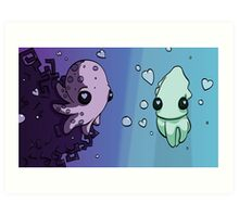 Aquatic Love Art Print