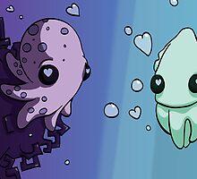 Aquatic Love by penguinstein