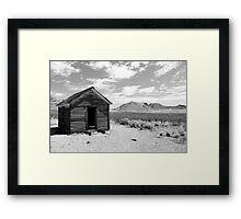 Lone Cabin Framed Print
