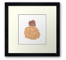 Bacon-Head Framed Print