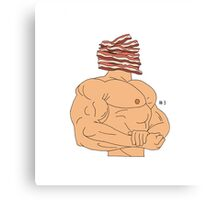 Bacon-Head Canvas Print