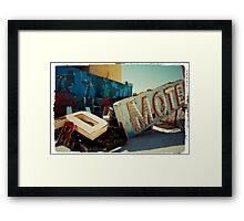 Neon Motel Framed Print