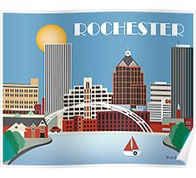 Rochester, New York - Skyline Illustration by Loose Petals Poster