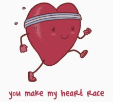 You make my heart race Kids Tee